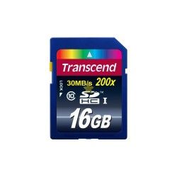 Transcend 16 GB SDHC 30Mbps Class 10 Memory Card